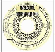 CENTRIFUGAL PUMP, TURBINES, WATER MOTORS THEORY PRACTICE OF HYDRAULICS on CD