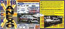 "ANEXO DECAL 1/18 FORD ESCORT ARI VATANEN ""COLIN MCRAE FOREST STAGES 2008"" (01)"