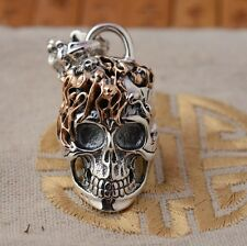 925 Sterling Silver  skull pendant charm jewelry DIY accessory P67
