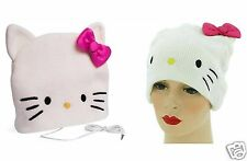 HELLO KITTY HEADPHONE BEANIE COSY HAT WITH BUILT IN EARPHONES GIRLS BRANDED