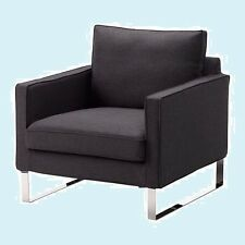 IKEA Mellby Armchair Cover Dansbo Dk Gray Chair Slipcover Pique'Texture Washable