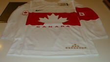 Team Canada 2014 Sochi Winter Olympics Hockey Jersey XXL White Twill Ice