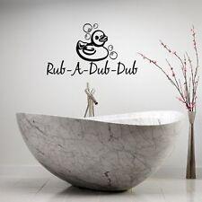 RUB-A-DUB-DUB DUCK LETTERING BATH WORDS BATHROOM VINYL DECOR DECAL WALL ART KIDS