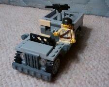 Lego WW2 Willy's Jeep + Minifigure American WW2 Army Military Modern 7620 7622