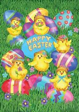 "Happy Easter Chicks Garden Flag Holiday Briarwood Lane 12.5"" x 18"""
