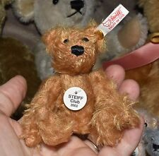 2002 Steiff Club Mini Mohair Teddy Bear Dark Tan Adorable 4""