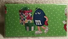 M&M CANDY CHECKBOOK COVER REGISTERED FABRIC CHRISTMAS GIFT BLUE NEW