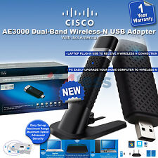 Linksys AE3000 Dual-Band Wireless-N USB Adapter with 3x3 Antenna Wi-Fi Dongle