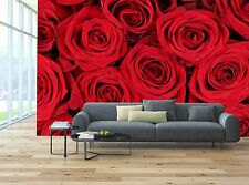 Background red roses Mural Photo Wallpaper Decor Paper Wall Background 3D