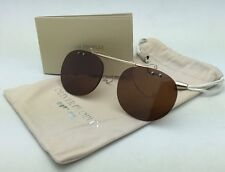 OLIVER PEOPLES 5004C 5039 Riley-R Flip-up Clip-on Gold & Silver /Brown Polarized