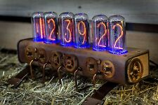 Unique IN-18 Nixie Clock with 6 tubes Handmade Steampunk | Z568M style | №36