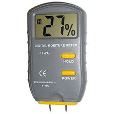 HQRP Digital Moisture Meter Wood Firewood Damp NEW 2-Pin