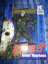NECA 1/4 JASON VOORHEES FRIDAY THE 13th MOTION ACTIVATED SOUND FIGURE NEW