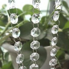 Garland Diamond Strand Acrylic Crystal Bead Curtain Wedding DIY Party Decor Chic