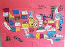 All 50 State Magnets Plus DC and Puerto Rico with Storage Jar and Paper Map
