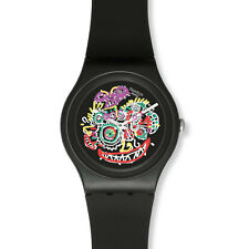 Swatch Watch Wild Face SUOZ167 Art Collection Goto Design Unisex Gift