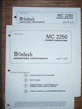 Service Schematics für McIntosh MC 2250  ,ORIGINAL