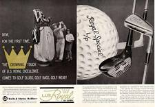 1962 U.S. Royal Vintage Golf  Ball and Bags, Clubs, Wear PRINT AD