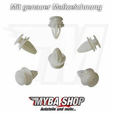 10x CLIPS KLIP POLSTER OPEL ASTRA MERIVA 149910 Ford 9032112 IN WEISS #NEU#
