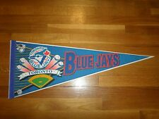 AWESOME ORIGINAL 1990'S TORONTO BLUE JAYS MLB FULL SIZE PENNANT