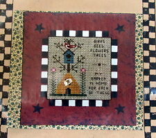 "Cross Stitch Pattern bee Hive birdhouse 5"" mini quilt wallhanging quilt"
