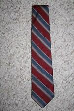 Stonehenge all silk burgundy red & blue mens men suit neck tie striped dress man