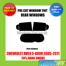 CHEVROLET AVEO 5-DOOR 2005-2011 20% DARK REAR PRE CUT WINDOW TINT