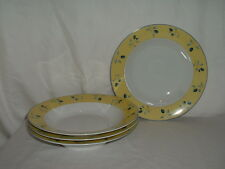 "Lot (4) 8 1/2"" Royal Doulton Blueberry Rimmed Soup Bowls 3 Lots Available"