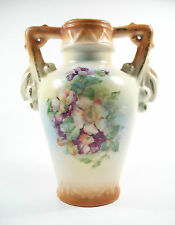 Vintage Bohemian Twin Handled Vase - Transfer Decorated - Czech. - Circa 1930's
