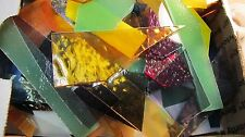 THREE LBS Scrap glass All Types and Textures for Mosaics / Stained Glass