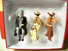 Preiser G scale 1:22.5 THREE Old Time Seated Figures 45056 -- Clothes Color # 3