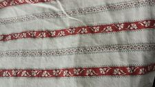 Ikea single duvet cover + 1 pillowcase set red white stripe floral print cotton