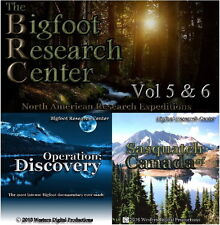 DVD Set Bigfoot Sasquatch Field Research Expedition Documentary BRC 5-6
