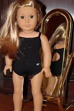 New Handmade Black Speedo Racing Swimming Suit for American Girl or 18 inch doll