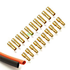 10 x PAIRS Of RC 3.5mm Gold Bullet Connector INC Heat Shrink For Motor ESC UK