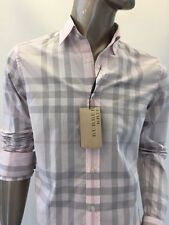 NWT Burberry Brit Long Sleeve Off White Rose Shirt Size M MSRP $325