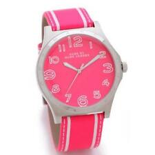 Marc Jacobs  Women's Henry Pink & White Leather Band Pink Dial Watch MBM1231