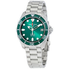 Certina DS Action Green Dial Stainless Steel Mens Quartz Watch C0324101109100