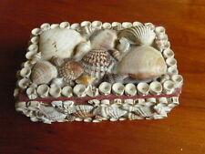 JOLI COFFRET BOITE souvenir de bord de mer ORNEE DE COQUILLAGES