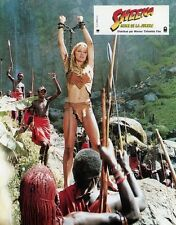 SEXY TANYA ROBERTS SHEENA QUEEN OF THE JUNGLE 1983 VINTAGE FRENCH LOBBY CARD #6
