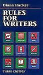 Rules for Writers: A Brief Handbook Hacker, Diana Paperback
