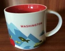STARBUCKS YOU ARE HERE WASHINGTON STATE COFFEE MUG CUP YAH NEW