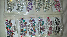 Joblot 12 pcs Butterfly Design Sparkly hairclips hairgrips NEW wholesale lot 8