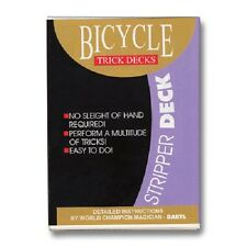 RED Back Stripper / Tapered Bicycle Poker Deck - Card Magic Trick