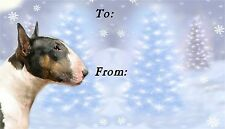 Bull Terrier Christmas Labels by Starprint - No 1