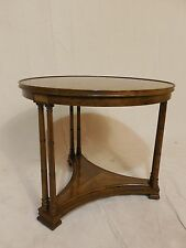 Henredon Heritage Hollywood Regency Banded Walnut Accent Table