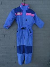 GIRLS COLUMBIA ONE PIECE SKI SNOWBOARD SNOWSUIT PINK AND BLUE INSULATED 7 / 8