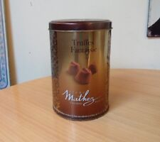 ALAUS MATHEZ CHOCOLATIER FANCY DUSTED TRUFFLES - EMPTY TIN