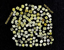 Natural Loose Diamond Rough Cube Shape Mix Fancy Color 100 pcs Lot N74