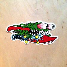 Santa Cruz Jim Phillips Slasher sticker vinyl knife skateboard goblin decal SK8